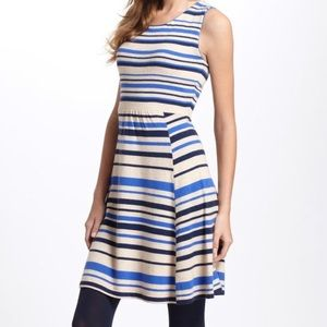 Anthropologie sleeveless sweater dress striped